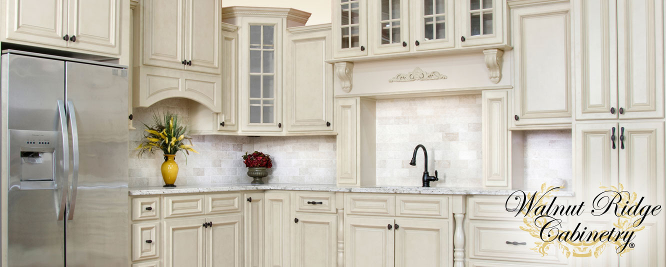 Antique White - Kitchen Cabinets - Super Home Surplus Store View