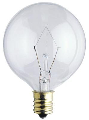 25 Watt G16 1/2 Incandescent Light Bulb