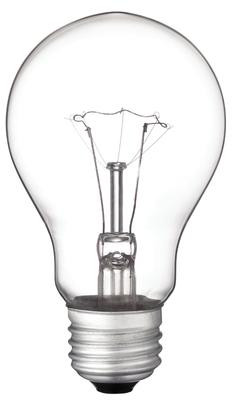 40 Watt A19 Incandescent Vibration Resistant Clear Light Bulb