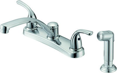 "8"" Two Handle Kitchen Faucet with Spray P22281S-26 Chrome"