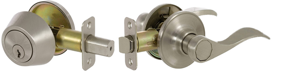 Bennett Series Lever-Style Door Handles - Satin Nickel Finish