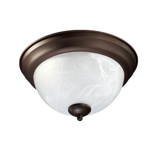 """11"""" Oiled Bronze Ceiling Mount Light 3066-11-86"""