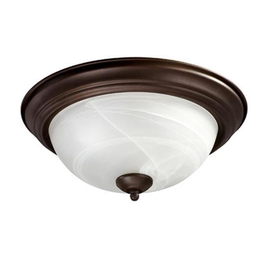 """13"""" Oiled Bronze Ceiling Mount Light 3066-13-86"""