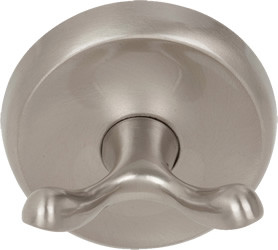 US15 Double Robe Hook Satin Nickel Round