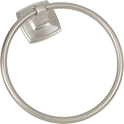 Towel Ring Satin Nickel Square US15