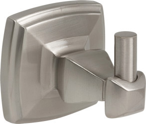 Single Robe Hook Satin Nickel Square US15
