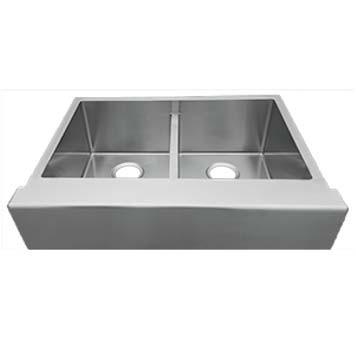 R-ZS-3350 Retrofit Apron Front Sink - Double Bowl