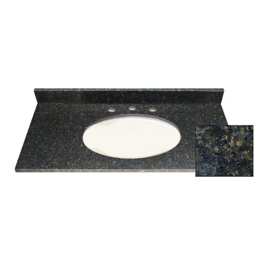 37x22 Butterfly Green Granite Top - Single Bowl