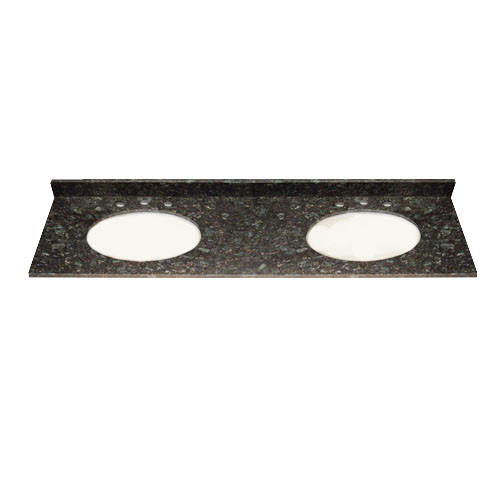 73x22 Butterfly Green Granite Top - Double Bowl