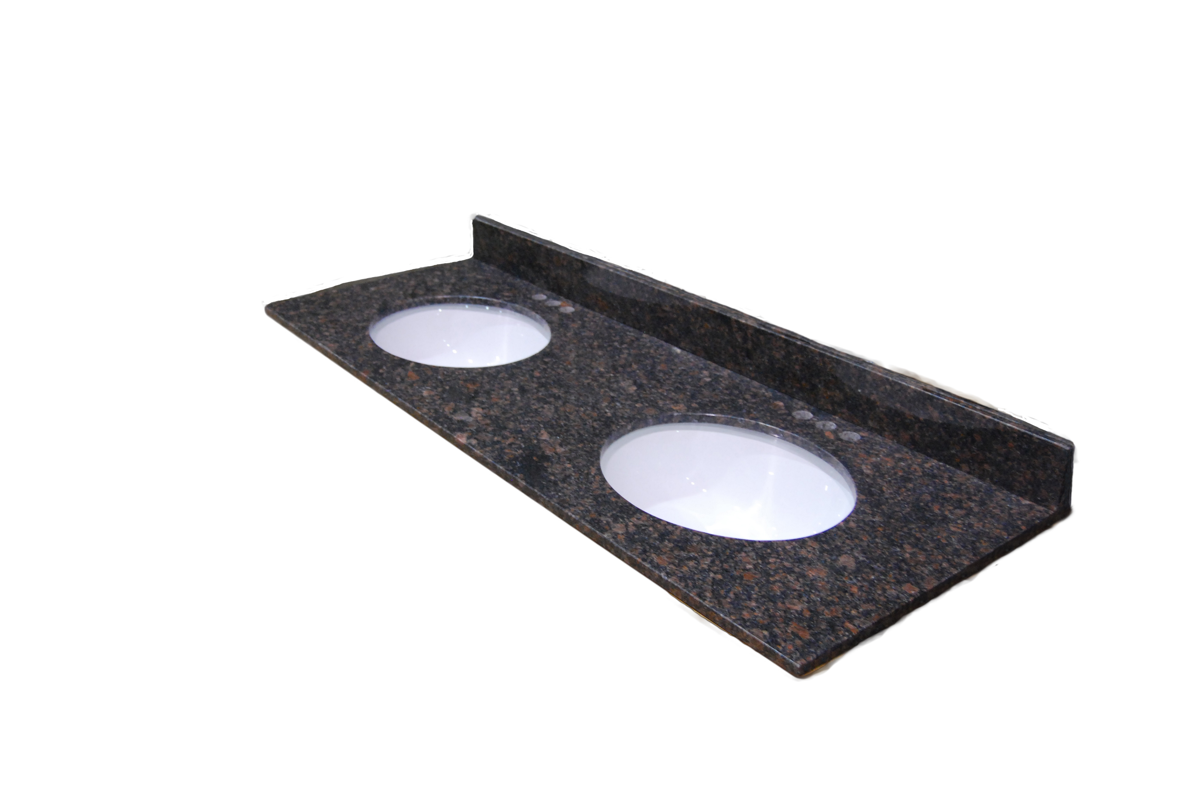61x22 Tortoise Granite Top - Double Bowl