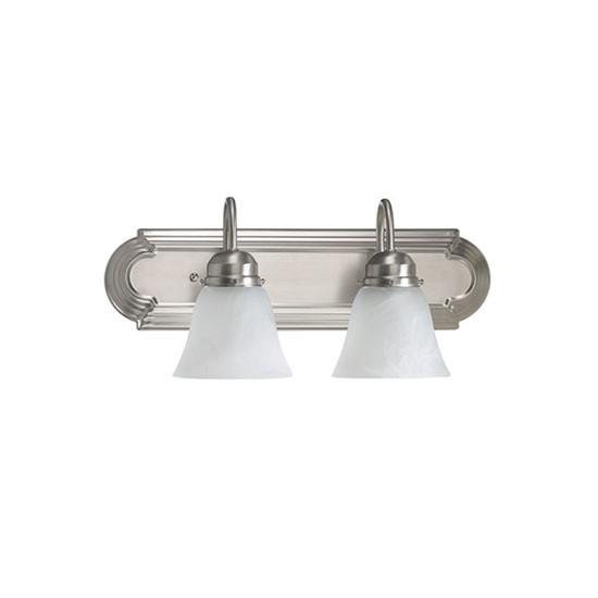 2 Light Satin Nickel Vanity Light 5094-2-165