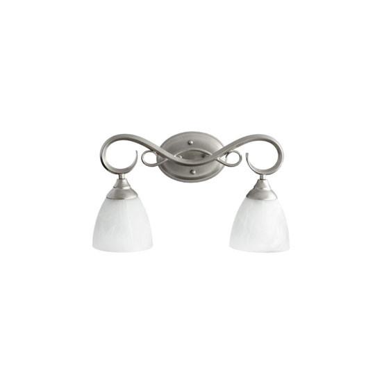 2 Light Classic Nickel Vanity Light 5108-2-64