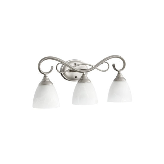3 Light Classic Nickel Vanity Light 5108-3-64