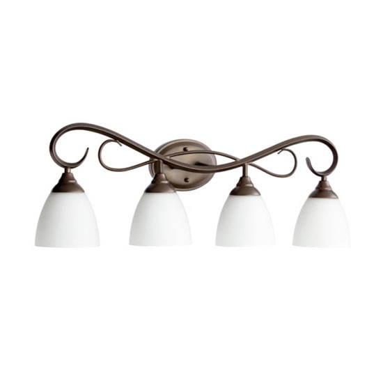 4 Light Oiled Bronze Vanity Light 5108-4-86
