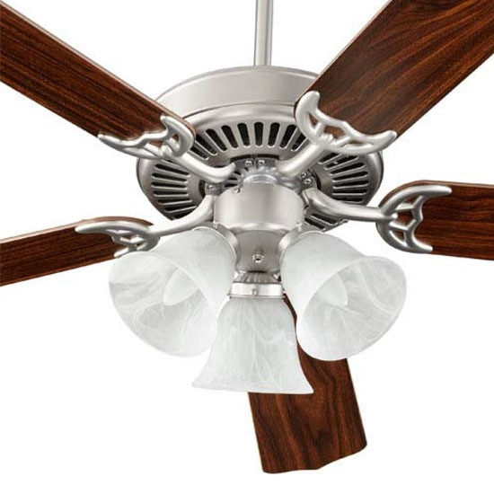 Capri 3 Light Satin Nickel Ceiling Fan 77525-1665
