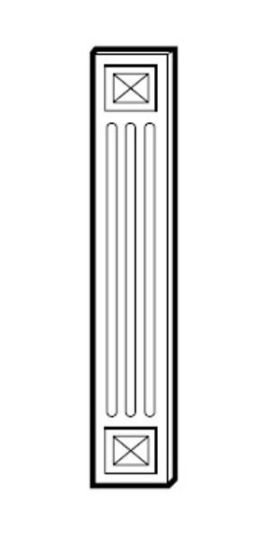 """SHGA42WF 3""""W x 42""""H x 5/8""""D"""