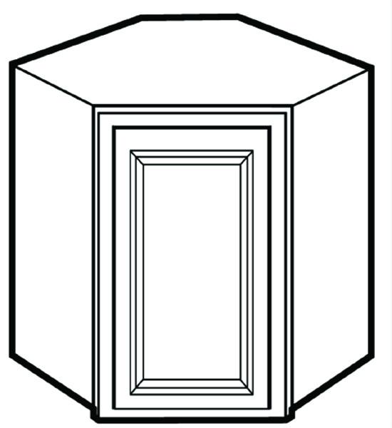 Savannah Harvest Glaze Wall Diagonal Corner Cabinet 2436