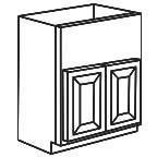 Apron Front Sink Base Cabinet - Charleston Coffee Glaze CCGAFSB36
