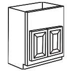 Apron Front Sink Base Cabinet - Savannah Sienna Glaze SSGAFSB36