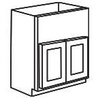 Apron Front Sink Base Cabinet - Unfinished Shaker Maple UNFAFSB36