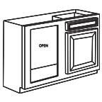 Base Blind Corner Cabinet AWBBC39-42 - Antique White