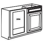 Base Blind Corner Cabinet - Charleston Coffee Glaze CCGBBC39-42