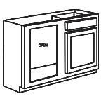 Base Blind Corner Cabinet - Shaker Espresso SEBBC39-42