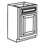 Base Cabinet 12 Inch AWB12 - Antique White