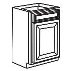 Base Cabinet 15 Inch - Charleston Coffee Glaze CCGB15