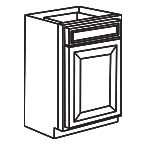 Base Cabinet 18 Inch - Charleston Coffee Glaze CCGB18