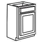 Base Cabinet 15 Inch - Shaker Espresso SEB15