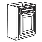 Base Cabinet 15 Inch - Savannah Sienna Glaze SSGB15