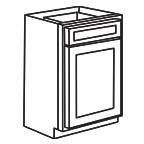 Base Cabinet 12 Inch - Unfinished Shaker Maple UNFB12