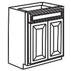 Base Cabinet 30 Inch - Charleston Coffee Glaze CCGB30