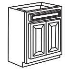 Base Cabinet 27 Inch - Savannah Sienna Glaze SSGB27