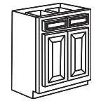 Base Cabinet 33 Inch AWB33 - Antique White