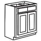 Base Cabinet 36 Inch - Shaker Espresso SEB36