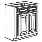 Base Cabinet 33 Inch - Savannah Sienna Glaze SSGB33