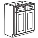 Base Cabinet 33 Inch - Shaker White SWB33