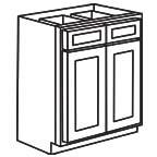 Base Cabinet 36 Inch - Unfinished Shaker Maple UNFB36