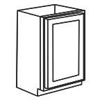Base Cabinet 9 Inch - Unfinished Shaker Maple UNFB09