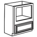 Base Microwave Cabinet - Charleston Coffee Glaze CCGBMC30
