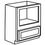 Base Microwave Cabinet - Shaker Gray SGBMC30