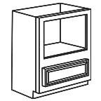 Base Microwave Cabinet - Savannah Sienna Glaze SSGBMC30