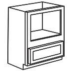 Base Microwave Cabinet - Shaker White SWBMC30