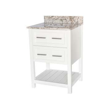 "24"" Contemporary Vanity - Sorento Style in White"