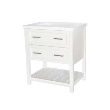 "30"" Contemporary Vanity - Sorento Style in White"