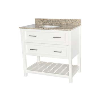 "36"" Contemporary Vanity - Sorento Style in White"