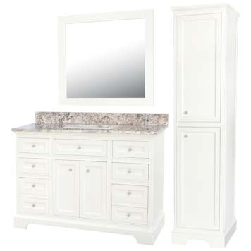 Jennifer Furniture Vanity with Mirror and Linen Cabinet