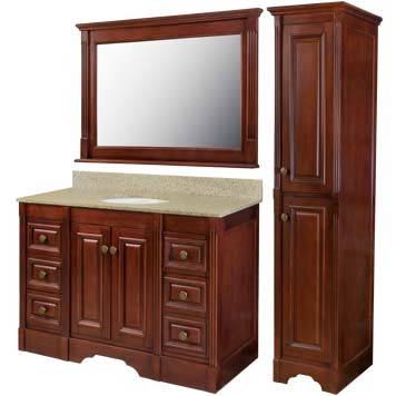 Reana Furniture Vanity with Mirror and Linen Cabinet